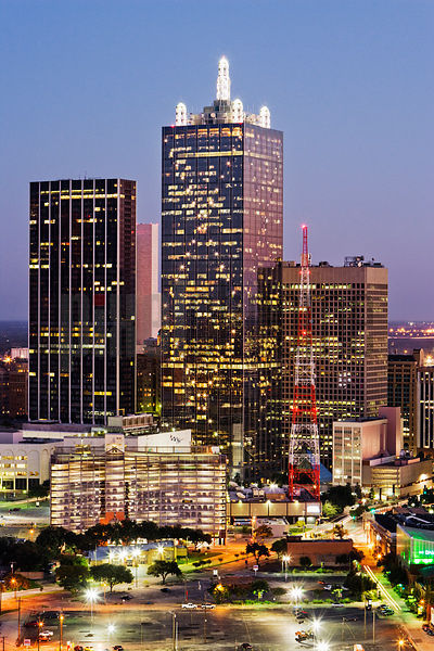 Dallas Skyline at Dusk from Uptown, Dallas, Texas