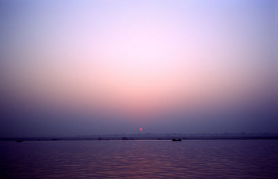 Sunrise over the Ganges at Varanasi, India