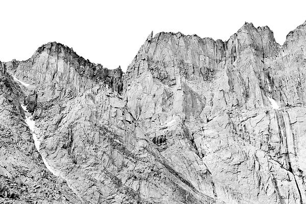 ROCKY MOUNTAIN RIDGE NEAR LONGS PEAK ROCKY MOUNTAIN NATIONAL PARK COLORADO BLACK AND WHITE