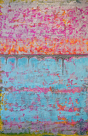 Pink & Blue Eroded Abstract