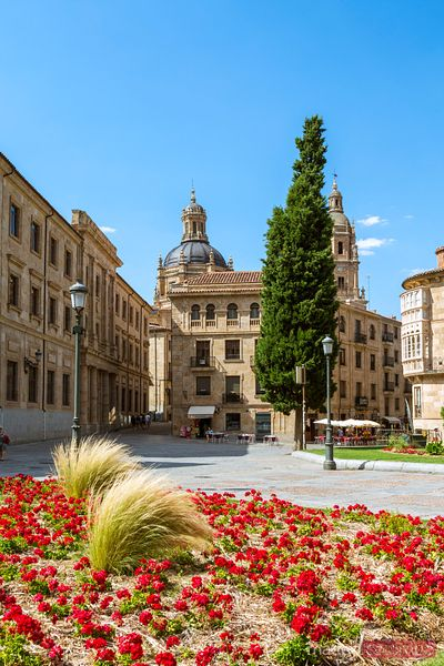 Plaza de Anaya with Iglesia de La Clerecia, Salamanca, Spain