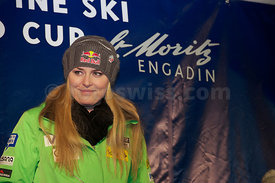 FIS Ski World Cup 2012/2013 Ladies in St.Moritz Ladies' Pricegiving Super G