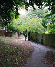 Pathway towards Barry Jackson Tower, South Aston