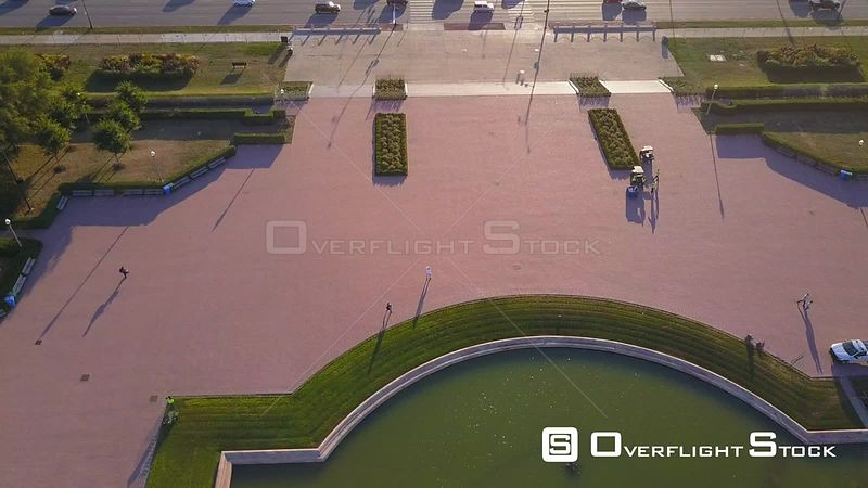 Buckingham Fountain S Lakeshore Drive Drone Video Downtown Chicago Illinois USA
