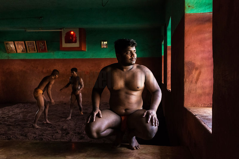 Portrait of a Kushti Wrestler in the Akhara