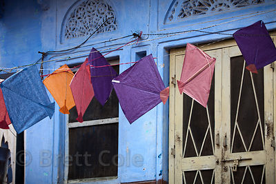 Kites for sale in Pushkar, Rajasthan, India