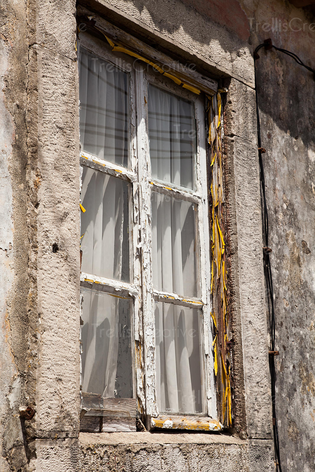 Old window, new drapes. Sintra, Portugal