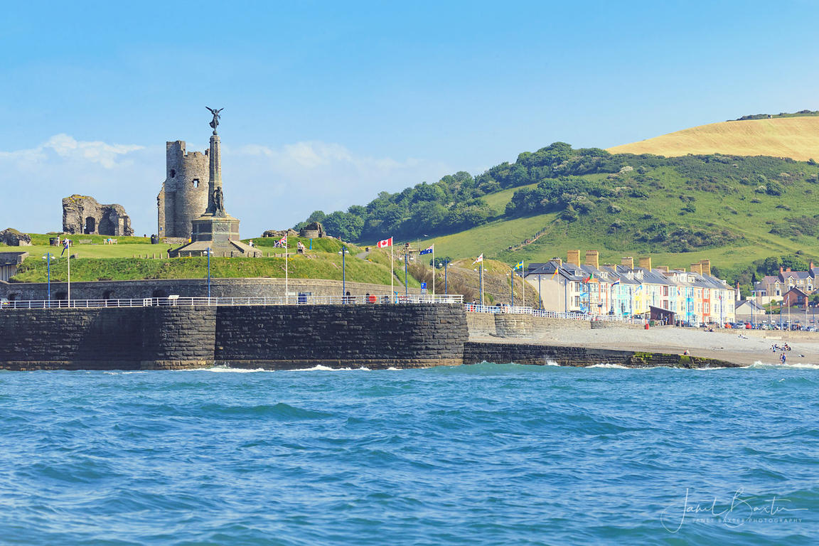Aberystwyth castle from the sea