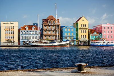 Coloured buildings, Willemstad, Curacao
