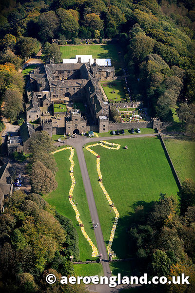 aerial photograph of Hogton Tower Lancashire England