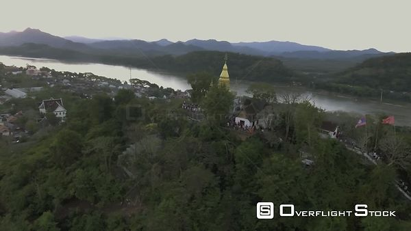 Shrine in Ancient Capital of Luang Prabang Laos