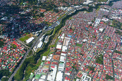 Aerial view of San Jose, Costa Rica, November 2014.