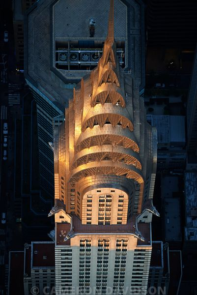 Aerial photograph of  Chrysler Building in Manhattan.