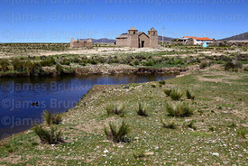 Rustic church and stream at Pasajes, Cordillera de Sama Biological Reserve, Bolivia