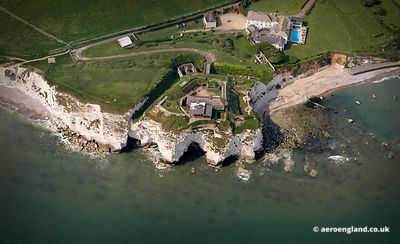 aerial photograph of Freshwater Redoubt,  Isle of Wight  England UK