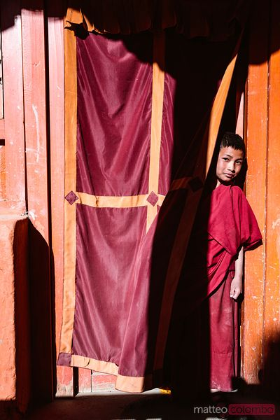 Young novice buddhist monk, Lo Manthang, Nepal