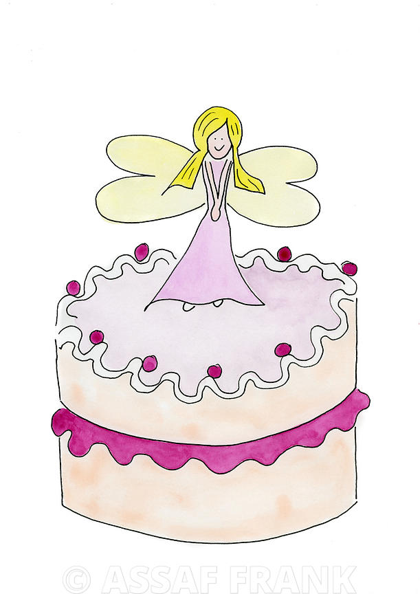 A fairy on a birthday present