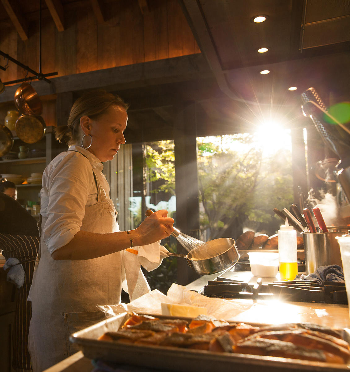 Cooking editorial photoshoot in Napa Valley by Jason Tinacci
