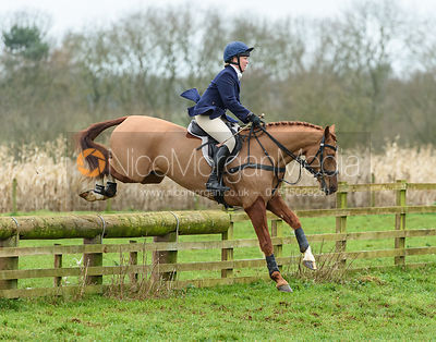 Emilie Chandler jumping a fence at Goadby Marwood 11/1