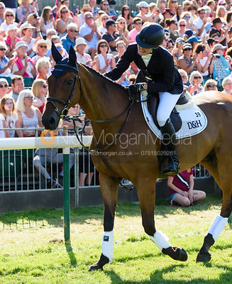Willa Newton and CHANCE REMARK, show prize giving, Land Rover Burghley Horse Trials 2018