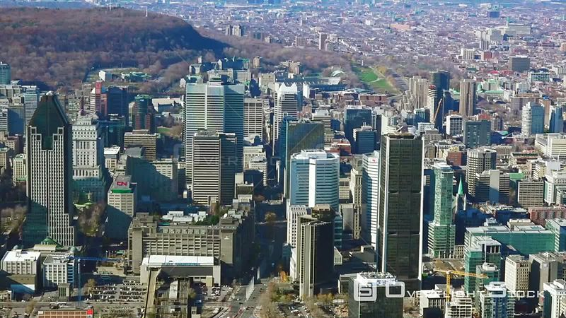 Downtown Montreal Quebec Canada