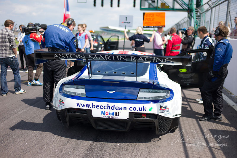 Beechdean Aston Martin Racing in pole position on the start grid at the Silverstone 500 - the third round of the British GT C...