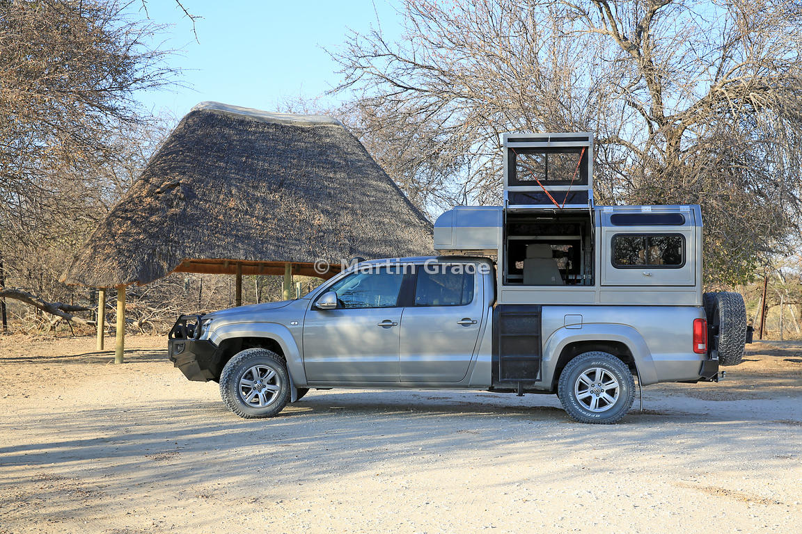 Volkswagen pick-up custom-converted for Coetzer Nature Photography (of South Africa), Etosha National Park, Namibia