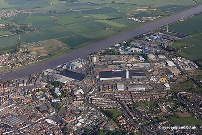 aerial photograph of King's Lynn Docks  Norfolk England UK