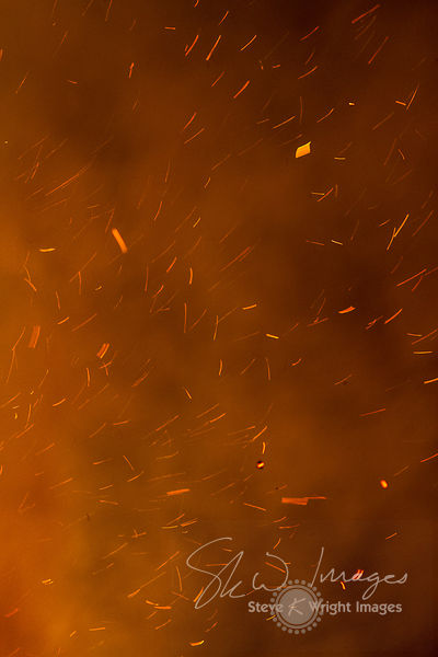 Flames and fireworks light up the night sky to celebrate Bonfire Night 2014 - Cookham, Berkshire, United Kingdom