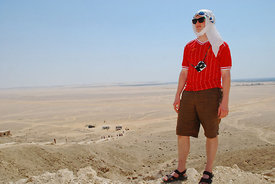 Tourist at Tell el-Amarna