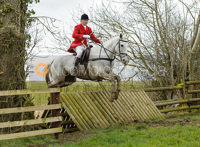Nicholas Leeming jumping a fence at Peake's Covert