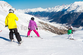 Ski Day in on the slopes of St.Moritz Mountains