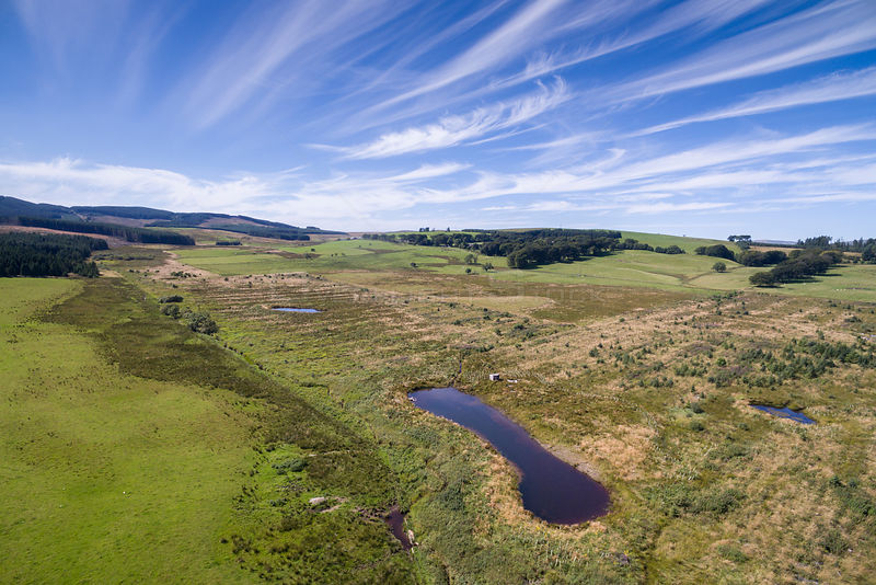 Storage ponds created in the Eddleston Water catchment area to store water during intense rainfall events. Part of Eddleston ...