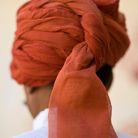 A turbaned guard at the City Palace, Jaipur, India