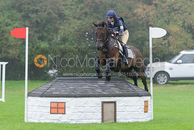Piggy French and WESTWOOD MARINER - cross country phase,  Land Rover Burghley Horse Trials, 6th September 2014.