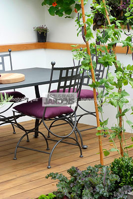 Garden chair, garden designer, Garden furniture, Garden table, Wooden Terrace, Ironwork