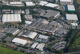 Oldham aerial photograph of the Stakehill Industrial Estate