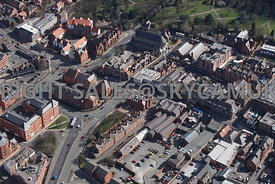 Chester aerial photograph of Grosvenor Court The Square Foregate Street Chester