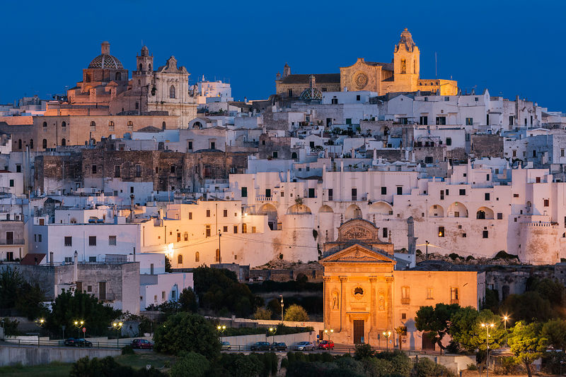 Elevated View of Ostuni at Dawn