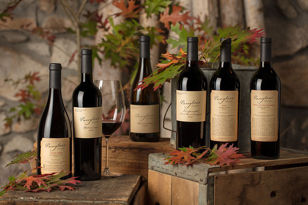 Wine photography for Pangloss Cellars by Sonoma photographer Jason Tinacci