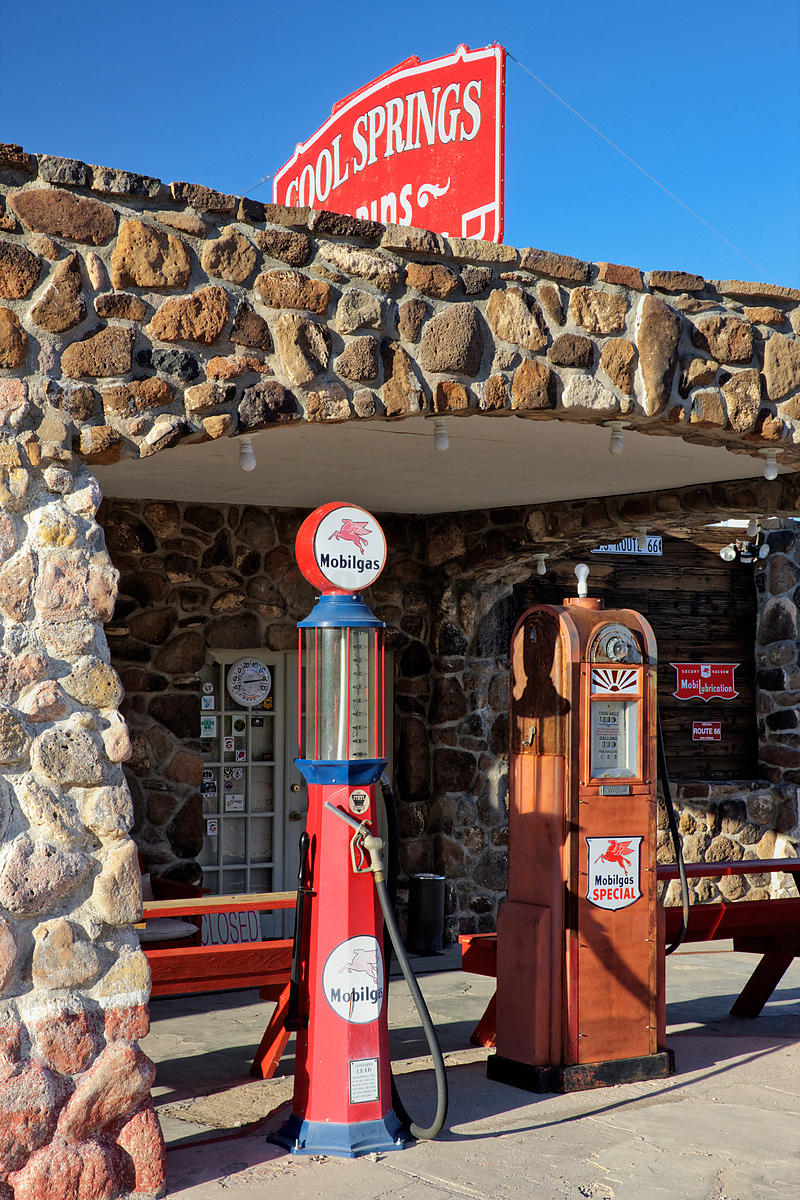 cool springs gas station on the oatman highway, california
