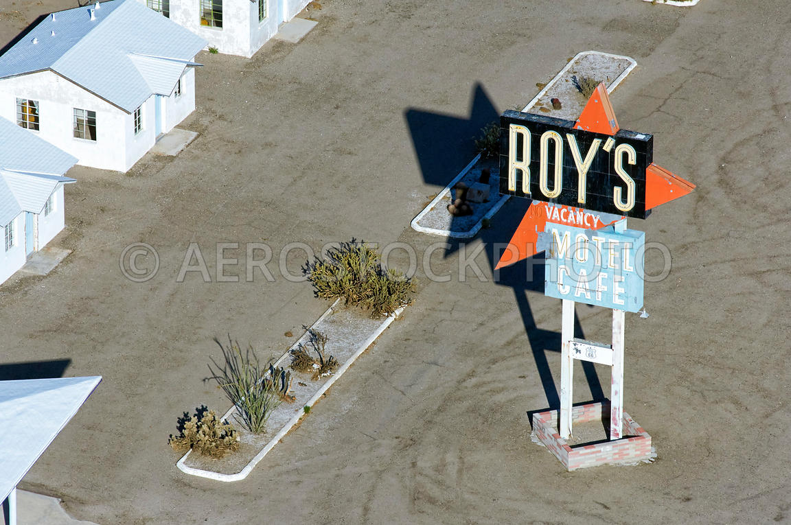 Roy's Motel and Café along U.S. Route 66  Amboy,  San Bernardino County, California, USA.