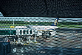 A Singapore Airlines airplane at Changi Airport, Singapore.