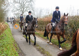 Meghan Healy Leaving the meet. The visit of the Wynnstay Hounds to the Cottesmore 27/11