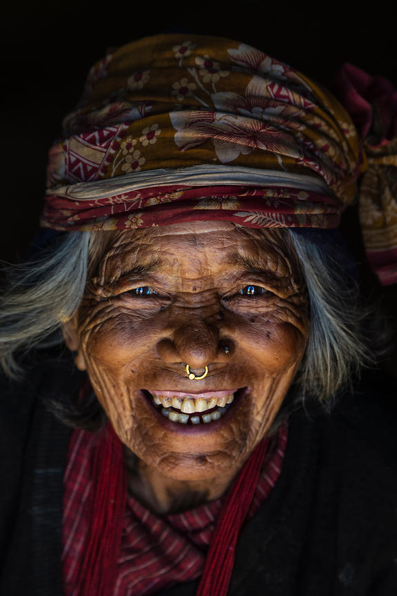 Portrait of a Nepali Woman from the Tamang Tribe