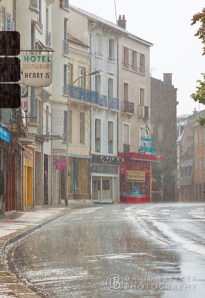 Downpour in Vichy, France
