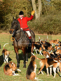 John Holliday at the meet. The Belvoir Hunt at the Kennels 13/11