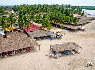 Places to eat at Barra de Potosi, Mexico.