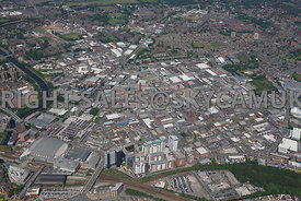 Manchester High Level View of the  Green Quarter and Cheetham Hill Industrial Estate Cheetham Hill Rd