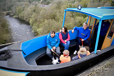 On the Pontcysyllte aqueduct.